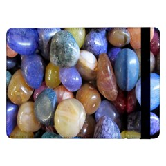 Rock Tumbler Used To Polish A Collection Of Small Colorful Pebbles Samsung Galaxy Tab Pro 12 2  Flip Case by Simbadda