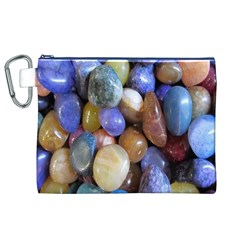 Rock Tumbler Used To Polish A Collection Of Small Colorful Pebbles Canvas Cosmetic Bag (xl) by Simbadda