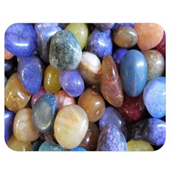 Rock Tumbler Used To Polish A Collection Of Small Colorful Pebbles Double Sided Flano Blanket (medium)  by Simbadda