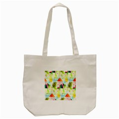Summer House And Garden A Completely Seamless Tile Able Background Tote Bag (Cream) by Simbadda