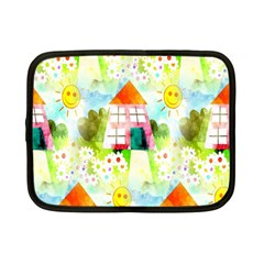 Summer House And Garden A Completely Seamless Tile Able Background Netbook Case (small)