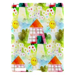 Summer House And Garden A Completely Seamless Tile Able Background Apple Ipad 3/4 Hardshell Case by Simbadda