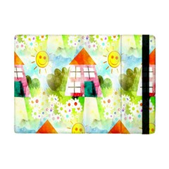 Summer House And Garden A Completely Seamless Tile Able Background Ipad Mini 2 Flip Cases by Simbadda