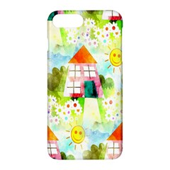 Summer House And Garden A Completely Seamless Tile Able Background Apple iPhone 7 Plus Hardshell Case by Simbadda
