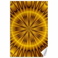 Fractal Yellow Kaleidoscope Lyapunov Canvas 24  X 36  by Simbadda