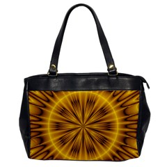 Fractal Yellow Kaleidoscope Lyapunov Office Handbags by Simbadda