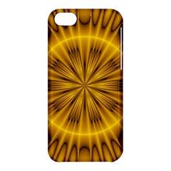 Fractal Yellow Kaleidoscope Lyapunov Apple Iphone 5c Hardshell Case by Simbadda