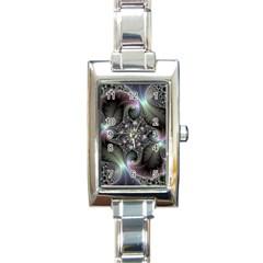 Precious Spiral Wallpaper Rectangle Italian Charm Watch by Simbadda