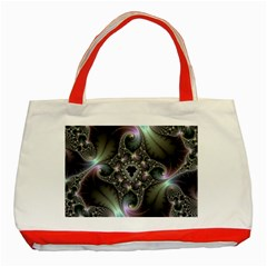 Precious Spiral Wallpaper Classic Tote Bag (red) by Simbadda