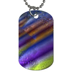 Fractal Color Stripes Dog Tag (two Sides) by Simbadda