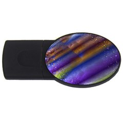 Fractal Color Stripes Usb Flash Drive Oval (2 Gb) by Simbadda