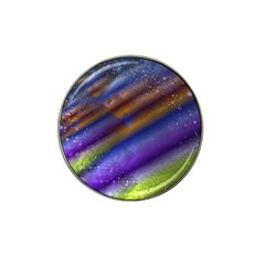 Fractal Color Stripes Hat Clip Ball Marker by Simbadda