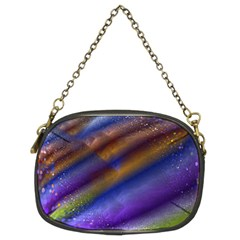 Fractal Color Stripes Chain Purses (two Sides)  by Simbadda
