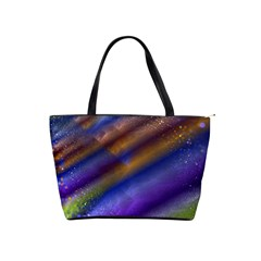 Fractal Color Stripes Shoulder Handbags by Simbadda