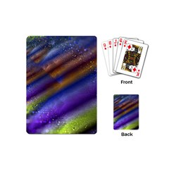 Fractal Color Stripes Playing Cards (mini)  by Simbadda