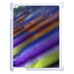 Fractal Color Stripes Apple Ipad 2 Case (white) by Simbadda