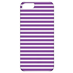 Horizontal Stripes Purple Apple Iphone 5 Classic Hardshell Case by Mariart