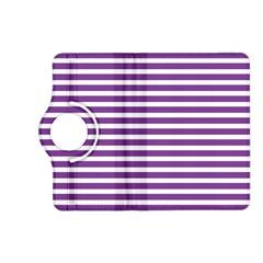 Horizontal Stripes Purple Kindle Fire Hd (2013) Flip 360 Case by Mariart