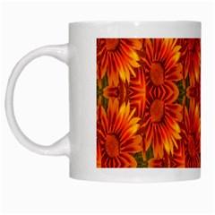 Background Flower Fractal White Mugs by Simbadda