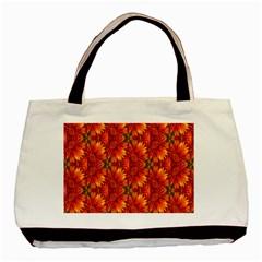 Background Flower Fractal Basic Tote Bag (two Sides) by Simbadda
