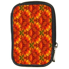 Background Flower Fractal Compact Camera Cases by Simbadda