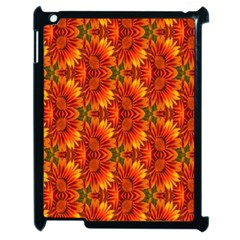 Background Flower Fractal Apple iPad 2 Case (Black)