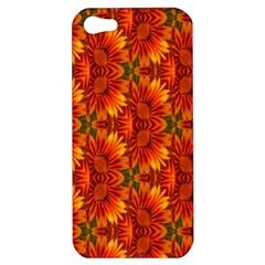 Background Flower Fractal Apple Iphone 5 Hardshell Case by Simbadda