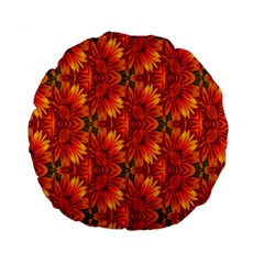 Background Flower Fractal Standard 15  Premium Round Cushions by Simbadda
