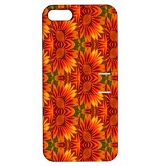 Background Flower Fractal Apple Iphone 5 Hardshell Case With Stand by Simbadda
