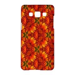 Background Flower Fractal Samsung Galaxy A5 Hardshell Case  by Simbadda