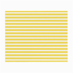 Horizontal Stripes Yellow Small Glasses Cloth (2 Side) by Mariart
