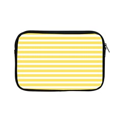 Horizontal Stripes Yellow Apple Ipad Mini Zipper Cases by Mariart