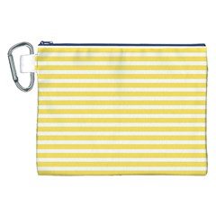 Horizontal Stripes Yellow Canvas Cosmetic Bag (xxl) by Mariart