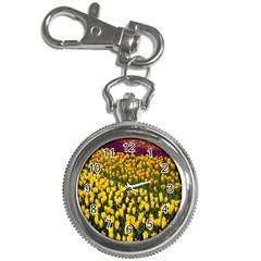 Colorful Tulips In Keukenhof Gardens Wallpaper Key Chain Watches by Simbadda