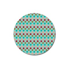 Large Colored Polka Dots Line Circle Magnet 3  (round) by Mariart