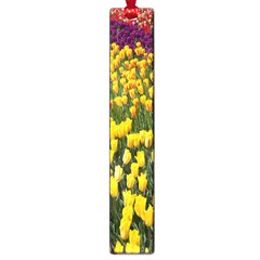 Colorful Tulips In Keukenhof Gardens Wallpaper Large Book Marks by Simbadda