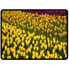 Colorful Tulips In Keukenhof Gardens Wallpaper Double Sided Fleece Blanket (large)  by Simbadda