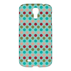 Large Colored Polka Dots Line Circle Samsung Galaxy S4 I9500/i9505 Hardshell Case by Mariart
