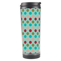 Large Colored Polka Dots Line Circle Travel Tumbler by Mariart