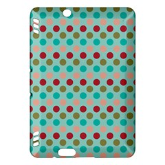 Large Colored Polka Dots Line Circle Kindle Fire Hdx Hardshell Case by Mariart