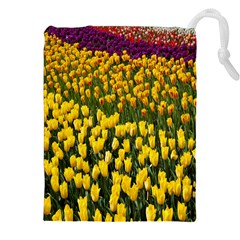 Colorful Tulips In Keukenhof Gardens Wallpaper Drawstring Pouches (XXL) by Simbadda