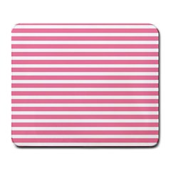 Horizontal Stripes Light Pink Large Mousepads by Mariart
