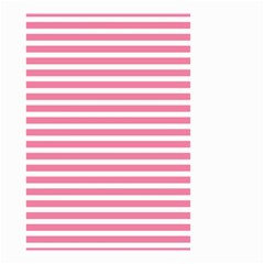 Horizontal Stripes Light Pink Small Garden Flag (two Sides) by Mariart