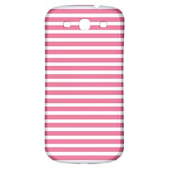 Horizontal Stripes Light Pink Samsung Galaxy S3 S Iii Classic Hardshell Back Case by Mariart