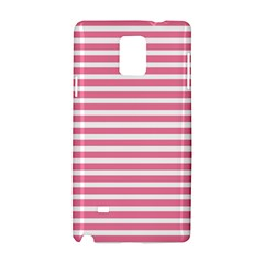 Horizontal Stripes Light Pink Samsung Galaxy Note 4 Hardshell Case by Mariart