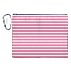 Horizontal Stripes Light Pink Canvas Cosmetic Bag (xxl) by Mariart