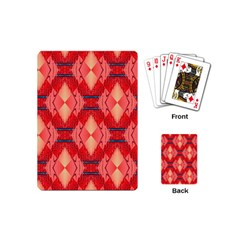 Orange Fractal Background Playing Cards (mini)  by Simbadda