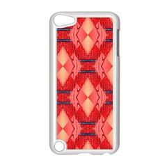Orange Fractal Background Apple Ipod Touch 5 Case (white) by Simbadda