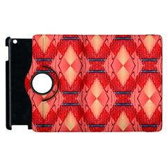 Orange Fractal Background Apple Ipad 3/4 Flip 360 Case by Simbadda