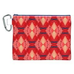 Orange Fractal Background Canvas Cosmetic Bag (xxl) by Simbadda